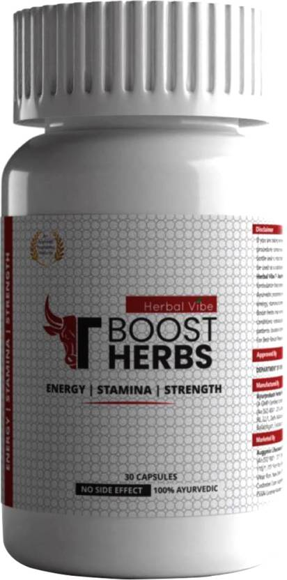 HERBAL VIBE TBOOST HERBS Herbal Testosterone Booster Supplement for Stamina Booster Price in