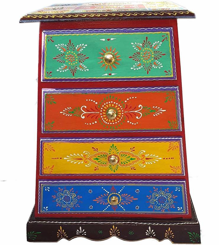 Pranjals House Solid Wood Free Standing Cabinet Finish Color   Multicolor