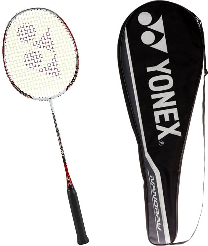 Yonex NANORAY D ONE  Grip Size : G4  3.25 Inches | Weight : 3U  85 92 grams  Red Strung Badminton Racquet