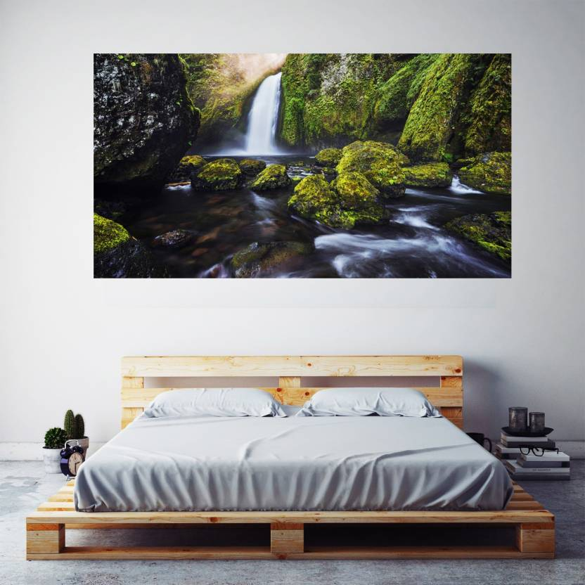 Waterfall 4k Poster Frameless Large Painting On Canvas ...