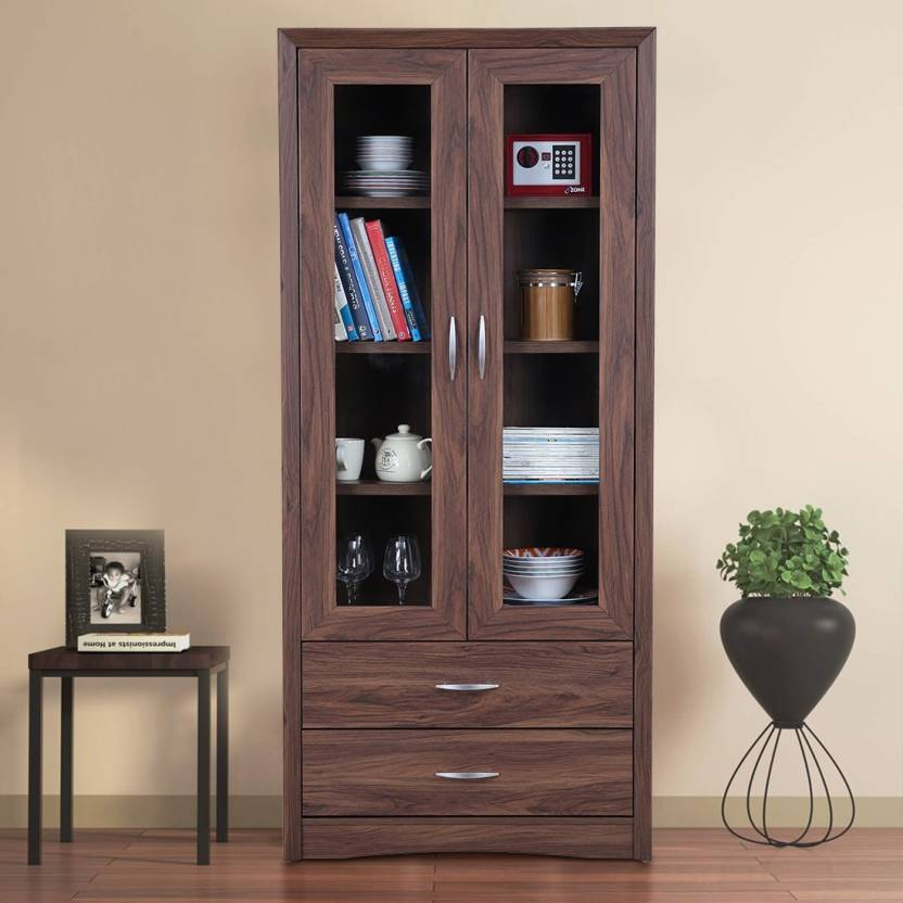 HomeTown Engineered Wood Free Standing Cabinet Finish Color   Walnut