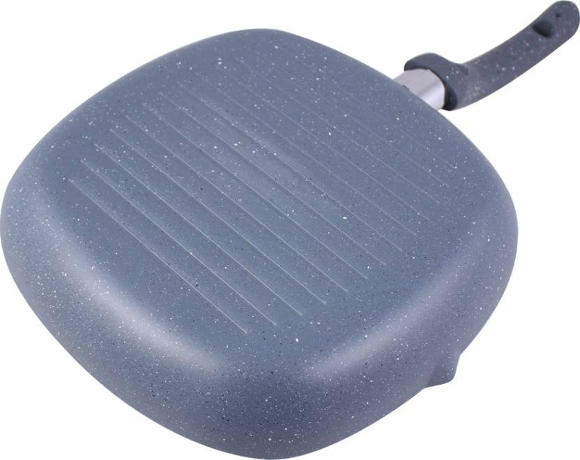 Wonderchef Granite Grill Grill Pan 24 cm diameter Aluminium, Non stick, Induction Bottom