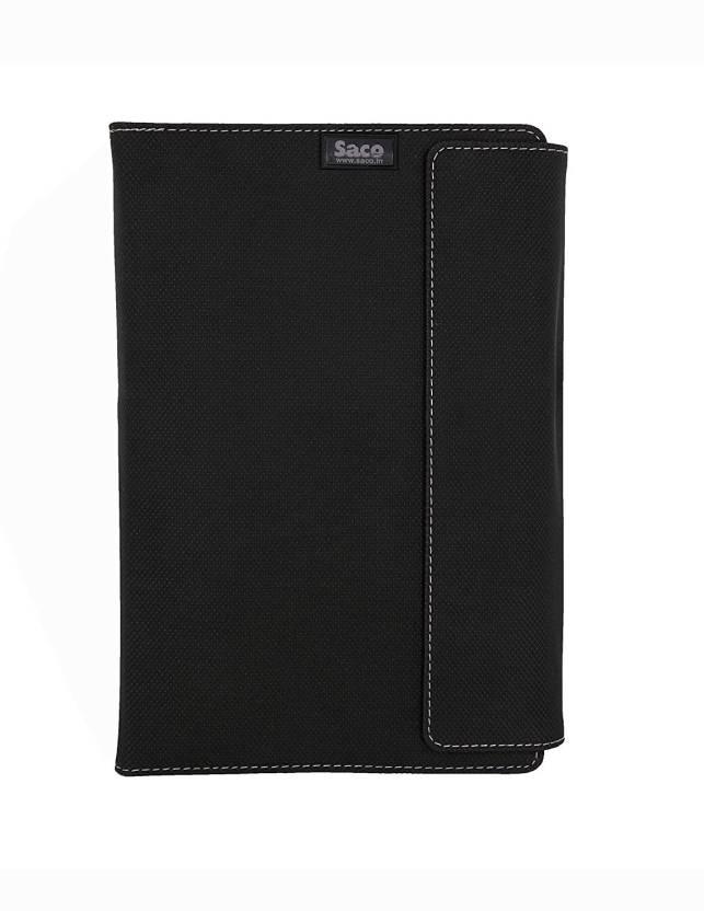 Saco Flip Cover for Samsung Galaxy Tab A SM T355Y 16   GB 8 inch Black