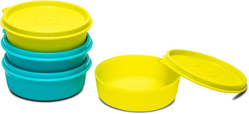 Tupperware Executive Lunch Bowl Med 4 Piece Spice Set Plastic