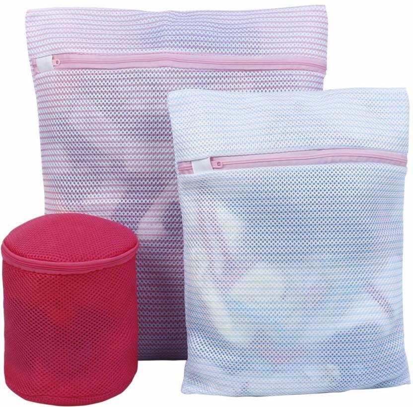 HOKIPO 1 L Multicolor Laundry Bag Polyester HOKIPO Laundry Baskets