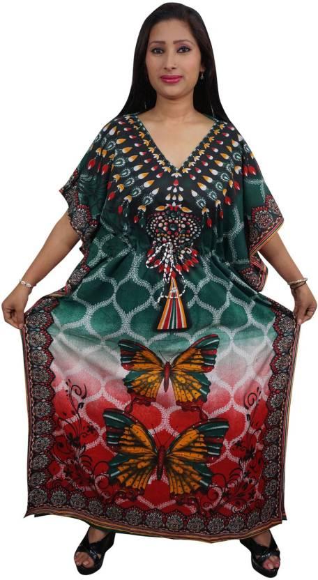 Indiatrendzs Printed Viscose Women's Kaftan