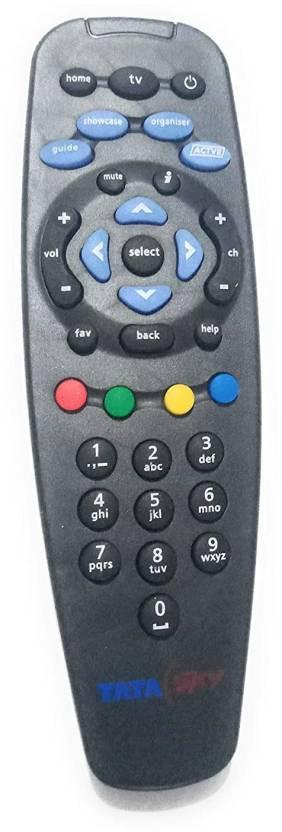 Love Me TV Remote Tata Sky Remote Controller Black