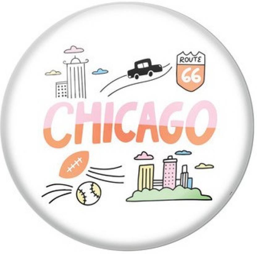 AVI Chicago Fridge Magnet Pack of 1 AVI Magnets