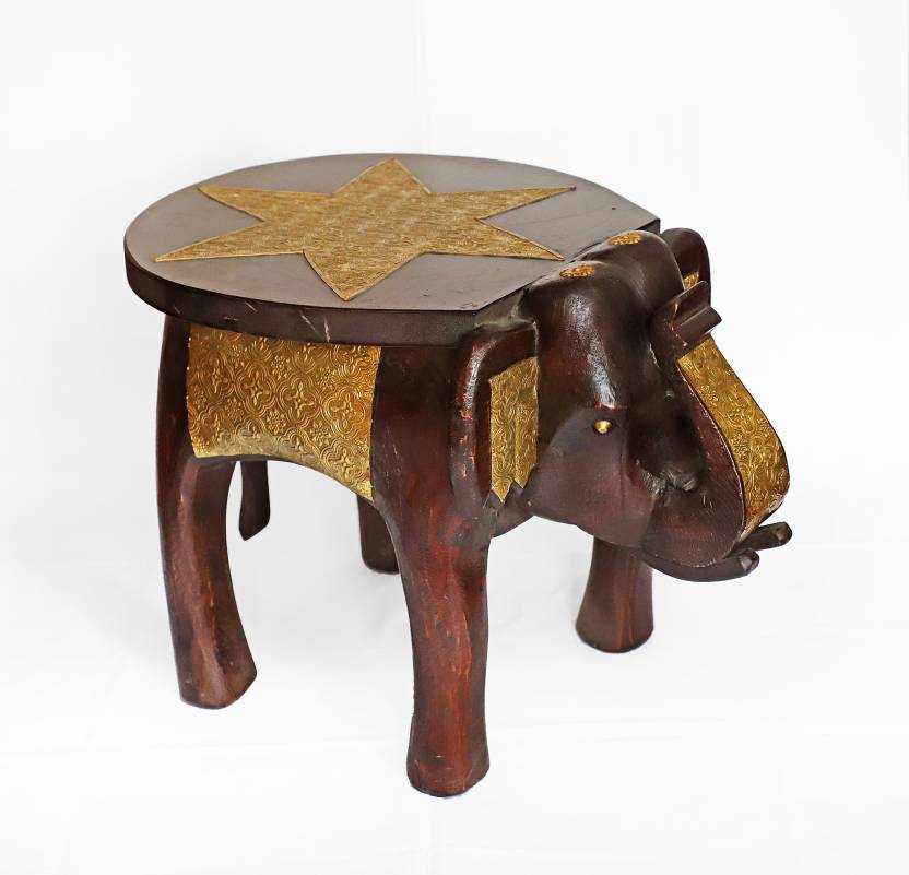 Rajasthan handicraft Solid Wood Corner Table Finish Color   lacquer