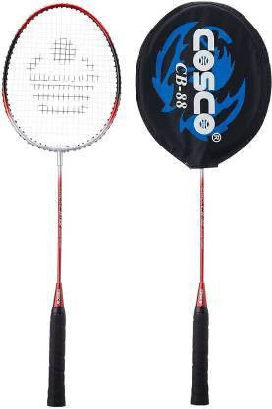 Cosco CB 88 Badminton Racquet Pair + Field King Badminton Shuttle Cock Kit  Multicolour  Red Strung Badminton Racquet Pack of: 2, 95 g