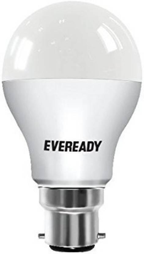Eveready 9 W Round B22 LED Bulb White