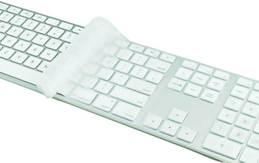 Saco Full Size Clear Cover Silicone For Apple Keyboard With Numeric