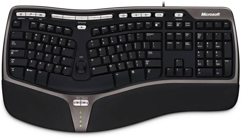 Microsoft Natural Ergonomic 4000 Wired USB Laptop Keyboard