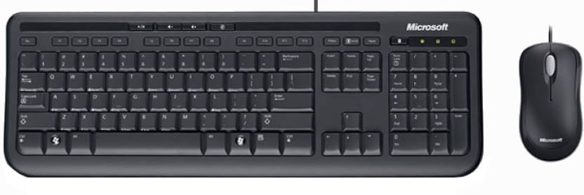 Microsoft Wired Desktop 600 USB 2.0 Keyboard and Mouse Combo
