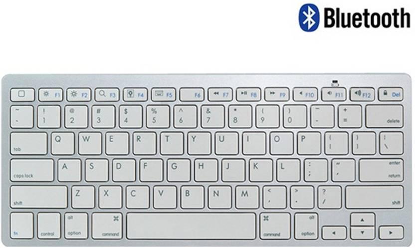 Callmate Bluetooth Keyboard with B.T USB Dongle   Silver Bluetooth Laptop Keyboard Silver