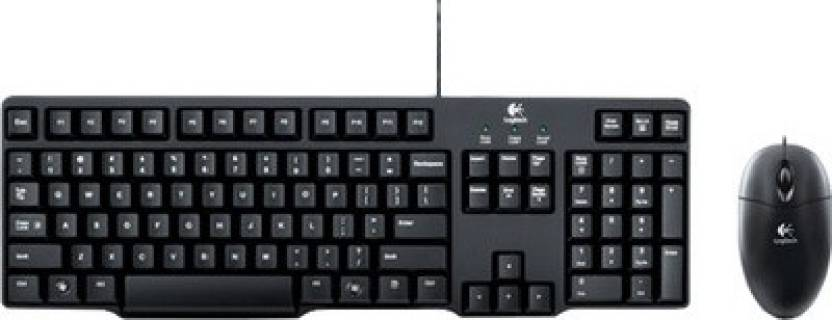Logitech MK100 PS/2 Keyboard and USB Mouse Combo