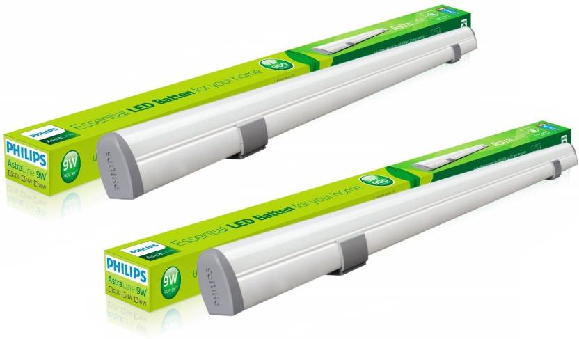 Philips Astra Line 9 W 2 Ft Straight Linear LED Tube Light Yellow, Pack of 2