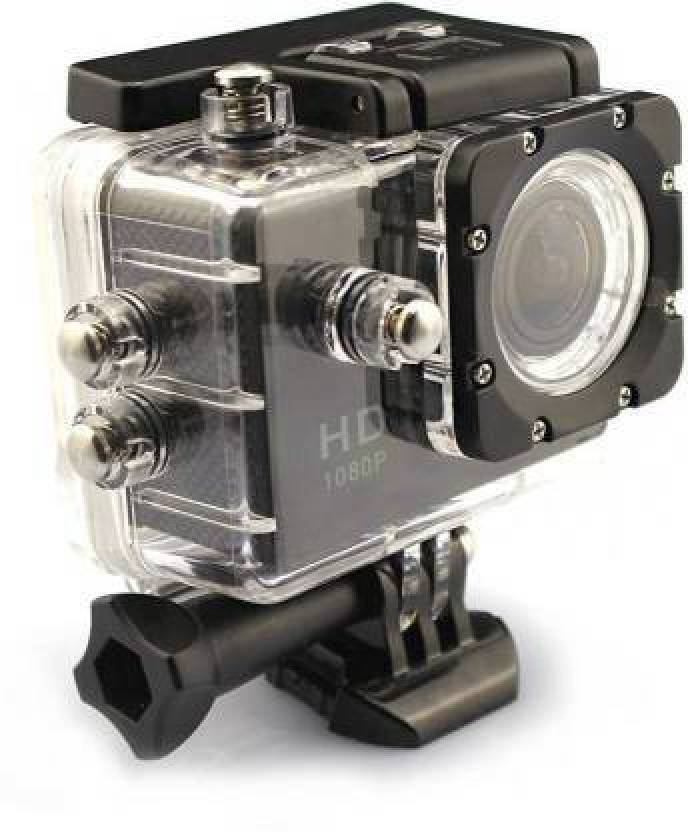 worricow 1080P HD Sports Action Camera Sports and Action Camera Black, 16 MP