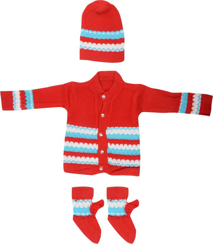 a812b2a2c Red Boys   Girls Casual Sweater Sweater Price in India - Buy Red ...