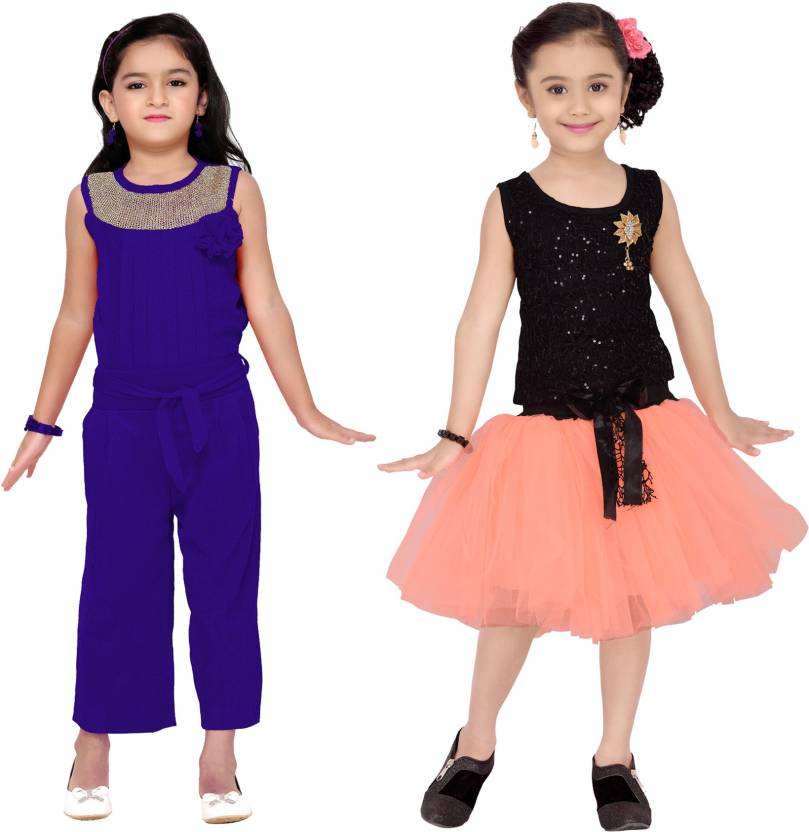 d5756a89d407 Aarika Girls Party(Festive) Jumpsuit Dress Price in India - Buy ...