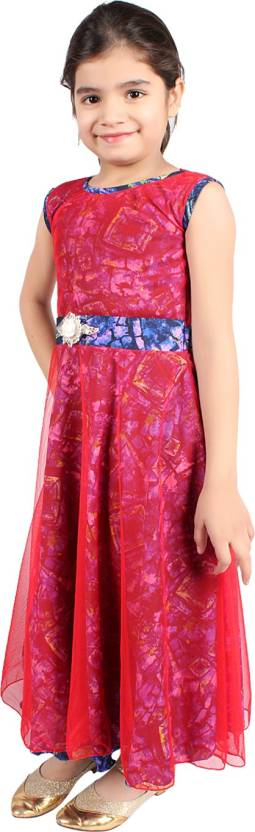 Delhiite Girls Maxi/Full Length Casual Dress