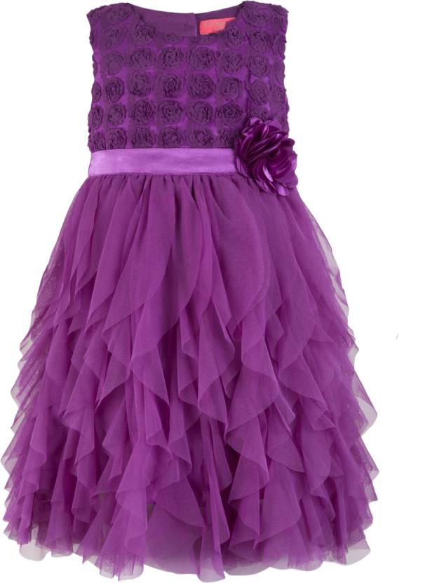 Toy Balloon Kids Girls Midi/Knee Length Party Dress Price in India ...
