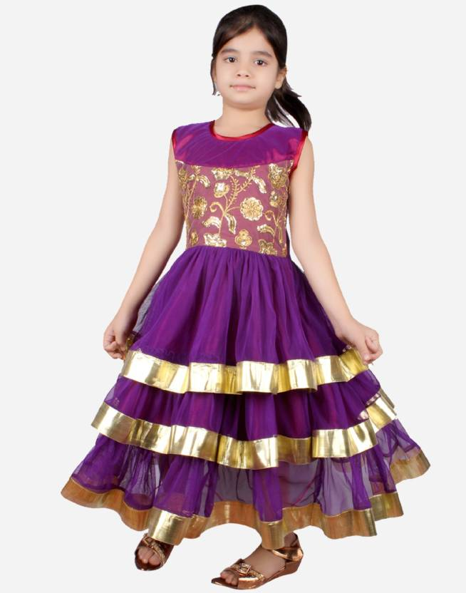 Tiny Toon Girls Maxi/Full Length Party Dress Price in India - Buy ...