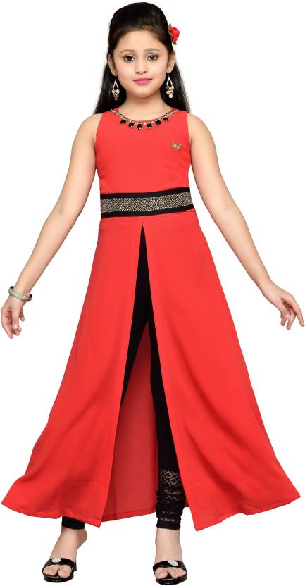 afae7c7bd0196 Hunny Bunny Girls Maxi/Full Length Party Dress Price in India - Buy ...
