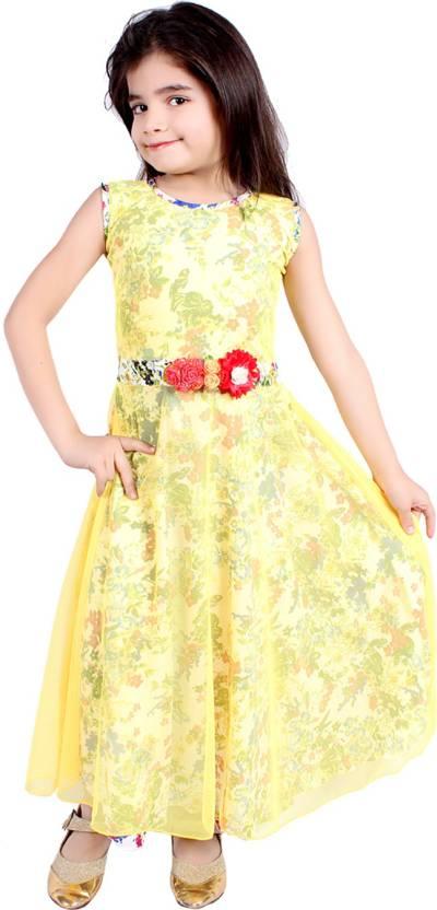 Delhiite Girls Maxi/Full Length Casual Dress
