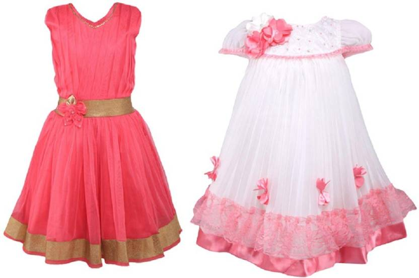 c74dd97df953 La Bele Girl's Midi/Knee Length Party Dress Price in India - Buy La ...