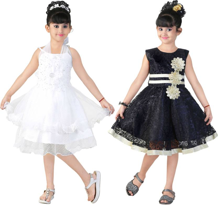 cf95123163f FTC FASHIONS Girls Midi/Knee Length Party Dress (Multicolor, Sleeveless)