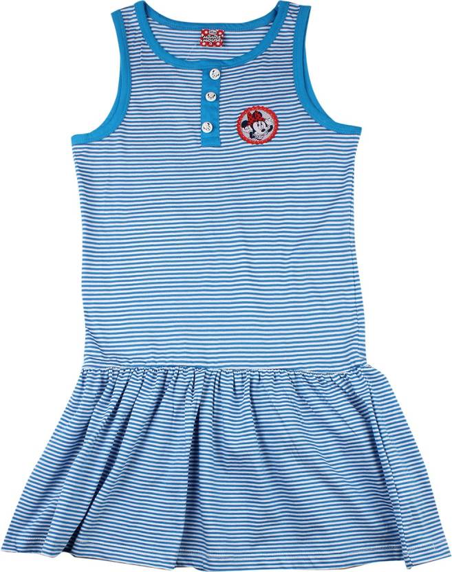 09a299963 Disney Minnie Girls Midi/Knee Length Casual Dress (White, Sleeveless)