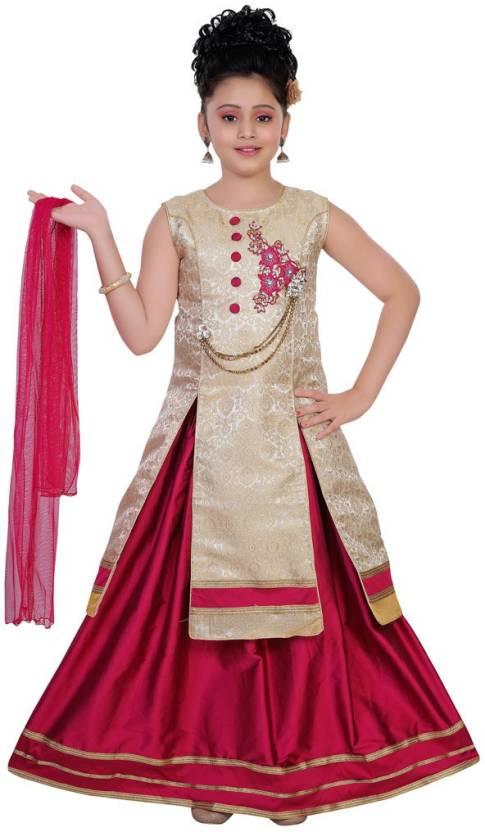 96182cda6 Saarah Girls Lehenga Choli Ethnic Wear Embellished Lehenga
