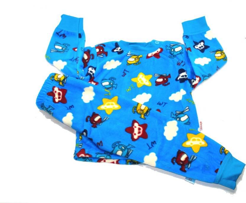 2202300fd0 Kidofash Kids Nightwear Boys & Girls Printed Fleece (Multicolor Pack of 1)