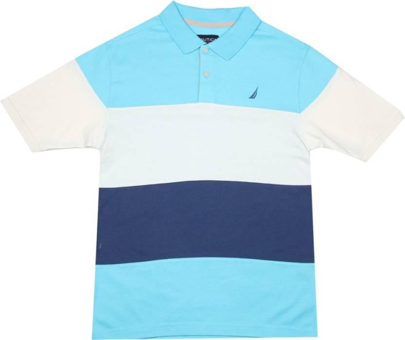 dcd5a2b707 Nautica Boys Striped Cotton T Shirt Price in India - Buy Nautica ...