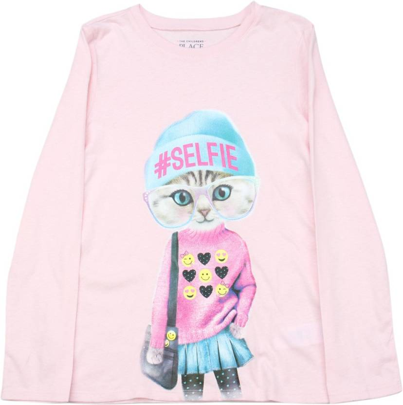 a62cfcd7 The Children's Place Girls Printed Cotton T Shirt Price in India ...