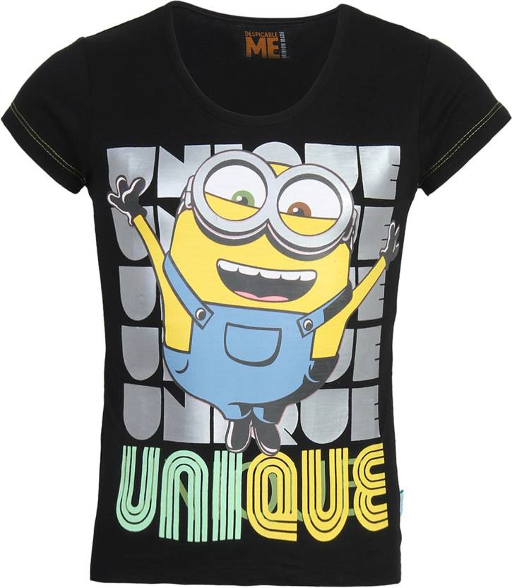 483a8f5d Minions Girls Printed Cotton T Shirt Price in India - Buy Minions ...