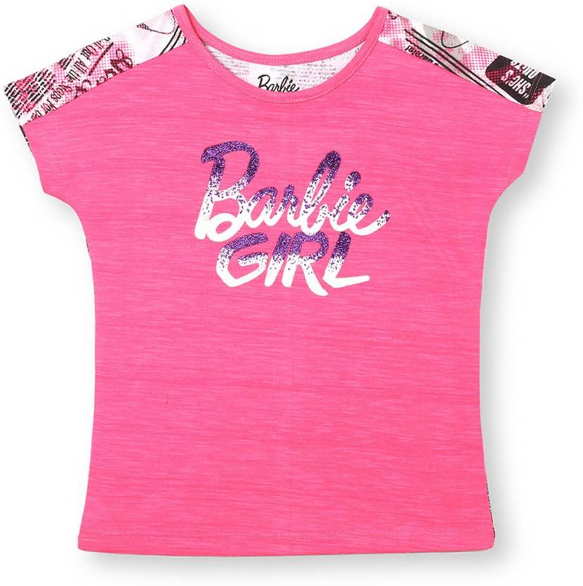 909e9f275e39d Barbie Girls Graphic Print Cotton T Shirt Price in India - Buy ...