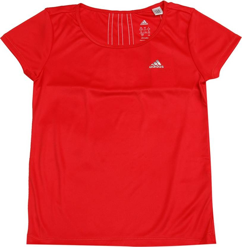 c10a4e56 ADIDAS Boys & Girls Solid Polyester T Shirt Price in India - Buy ...
