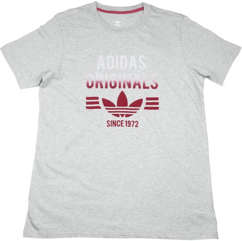 793aca458 ADIDAS Girls Printed Cotton T Shirt Price in India - Buy ADIDAS ...