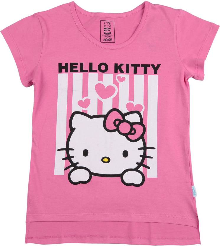 17ce86d82 Hello Kitty Girls Printed Cotton T Shirt Price in India - Buy Hello ...