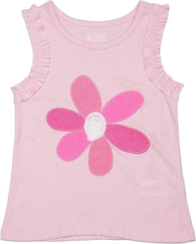 e9793b78be The Children's Place Girls Floral Print Cotton T Shirt Price in ...