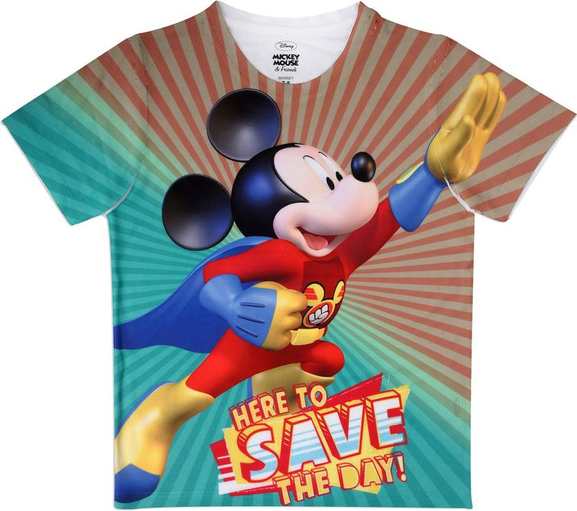 24e0b8af28 MICKEY MOUSE FAMILY Boys Printed Polyester T Shirt (Multicolor, Pack of 1)