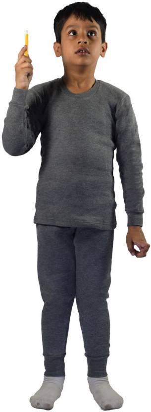 Rupa Top - Pyjama Set For Boys & Girls (Grey, Pack of 1)