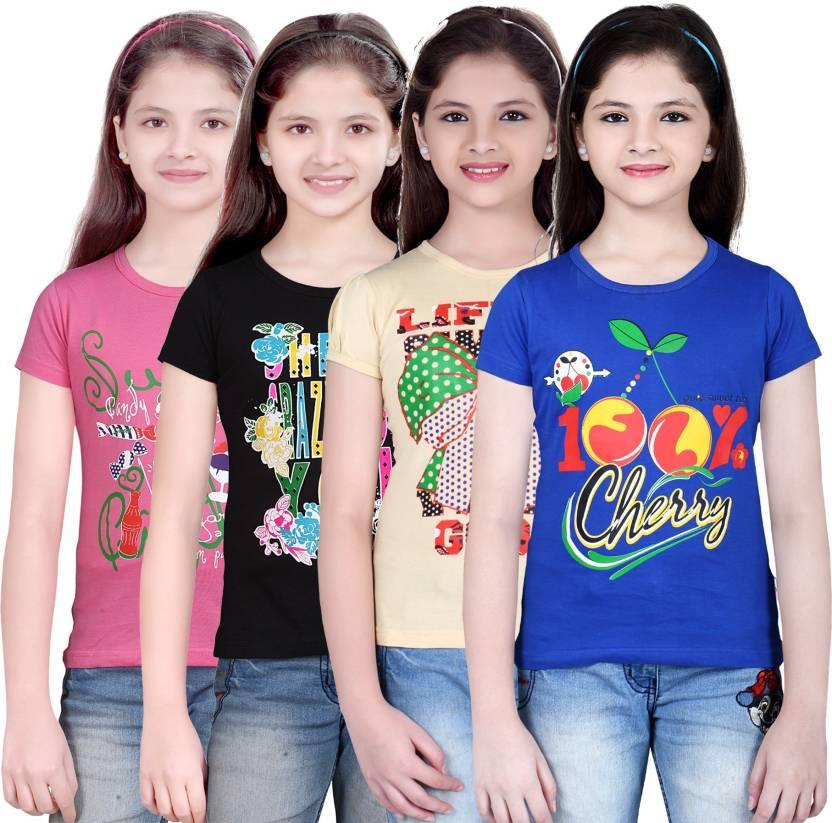 Sini Mini Girls Printed T Shirt
