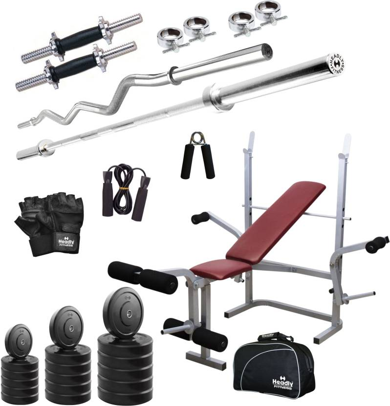 Headly 100 kg combo cc 8 total home gym kit buy headly 100 kg