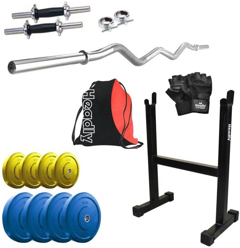 Headly premium cp hr 22kgcombo15 coloured home gym kit buy headly