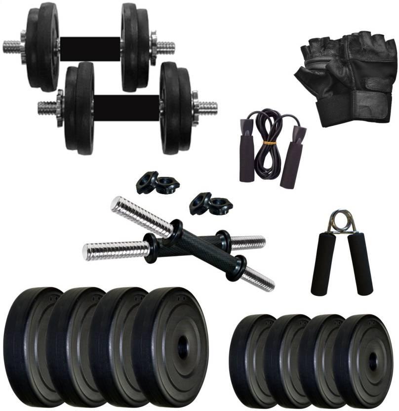 Krx pvc 8 kg dmcombo 2 home gym kit buy krx pvc 8 kg dmcombo 2