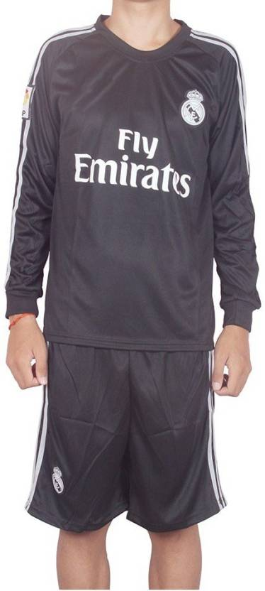 Navex Footbal Jersey Club Real Madrid Black Full Sleeve Ket M Football Kit a9e96b76f