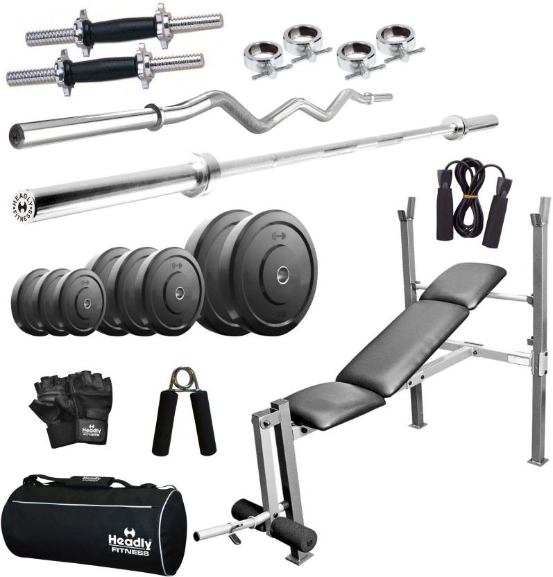1cb8ac2b4e8 Headly Home 40 kg Combo AA8 Home Gym Kit - Buy Headly Home 40 kg Combo AA8 Home  Gym Kit Online at Best Prices in India - Home Gym